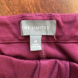 The Limited maroon pixie cut stretchy pants.